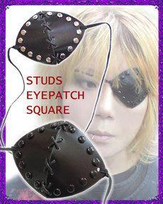 OZZY†オリジナル+++本革眼帯+++スタッズアイパッチスクエア