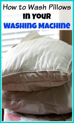 Don't throw out old, dirty pillows, clean them instead! Here's how to wash pillows in your washing machine (and dry them in your dryer)! | cleaning tips and tricks, homemaking tips, cleaning hacks