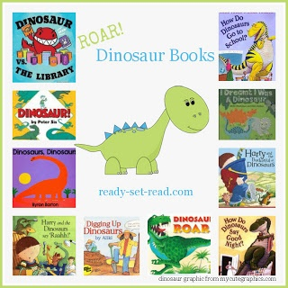 Dinosaur Themed Books for Preschool from Ready, Set, Read! {Do you have a favorite Dinosaur Book?}