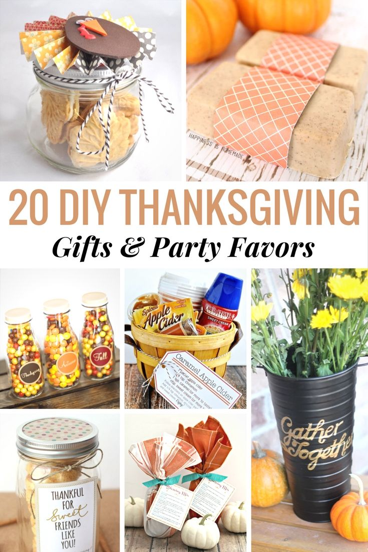 Here are 20 DIY Thanksgiving Gift and Party Favors that your friends and family will love. Add something a little personal to your Thanksgiving celebration.