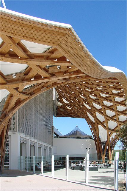 La charpente du centre pompidou metz by dalbera via flickr architecture - Anglade structure bois ...