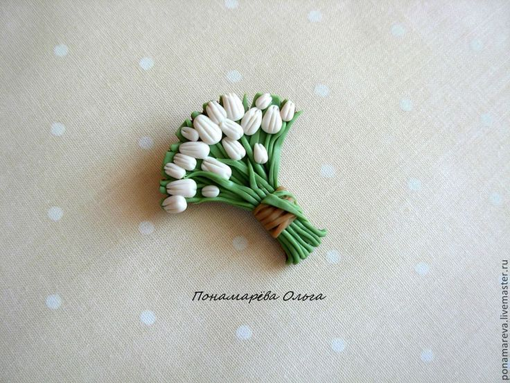 Весна на Sees All Colors: Цветочные брошки из полимерной глины Ольги Пономаревой