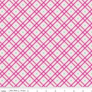 Riley Blake - Sweet Home Plaid Pink