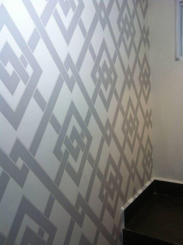 M s de 25 ideas incre bles sobre papel tapiz gris en - Empapelar sobre azulejos ...