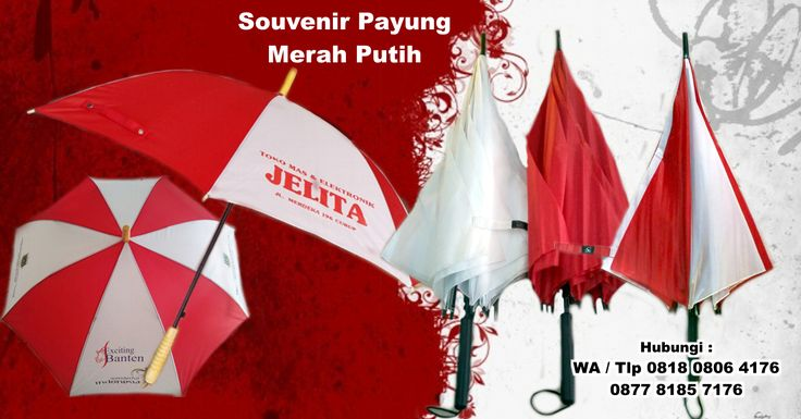 Jual Souvenir Payung Merah Putih 17 Agustus