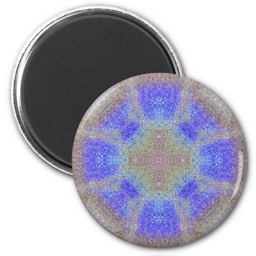 Mandal - colorful Oil Slick art #78 Round Magnet