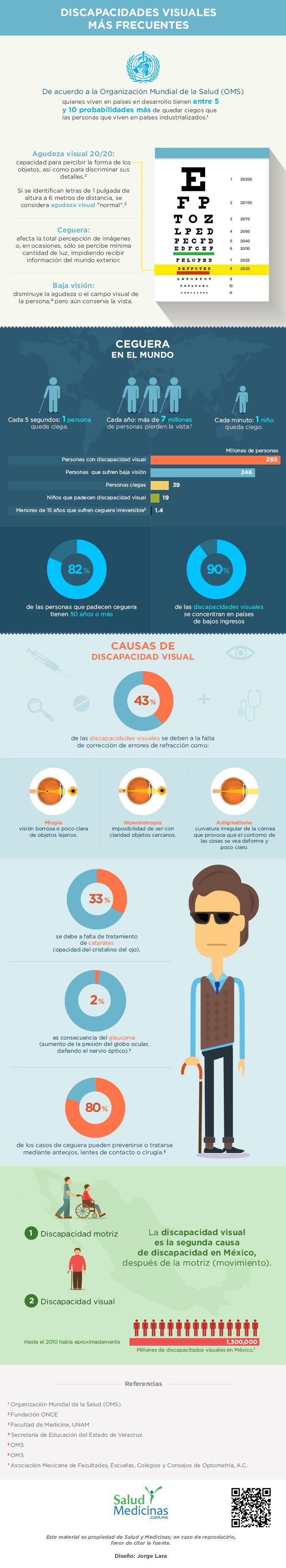 Discapacidades visuales más frecuentes