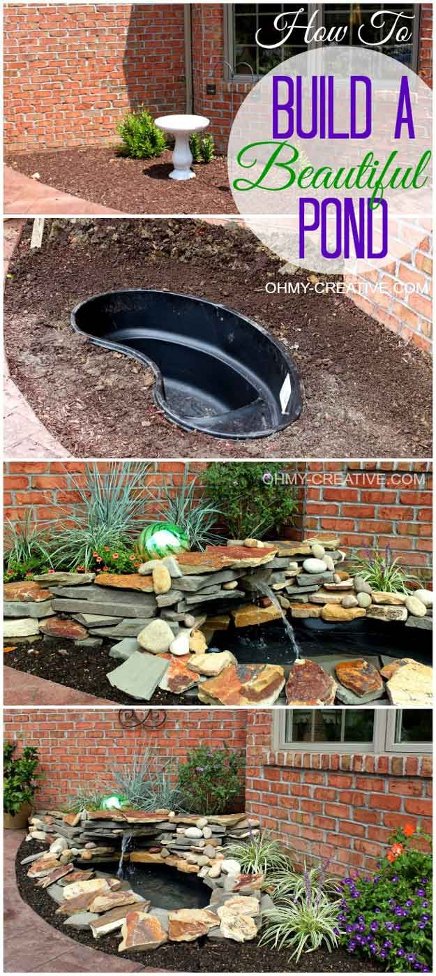 DIY Pond | DIY Yard Crashers Ideas