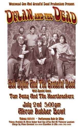 Bob Dylan / Grateful Dead / Tom Petty 1986 by ClevelandRockAndRoll, $15.00