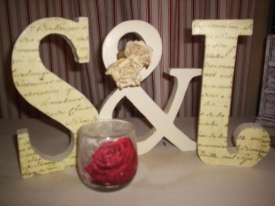 Letras de madera cortadas con texto - Letras de madera decoradas ...