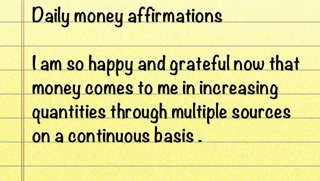 Money Affirmation ..