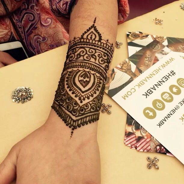 Arm Mehndi Design : Lastest henna design arm band makedes