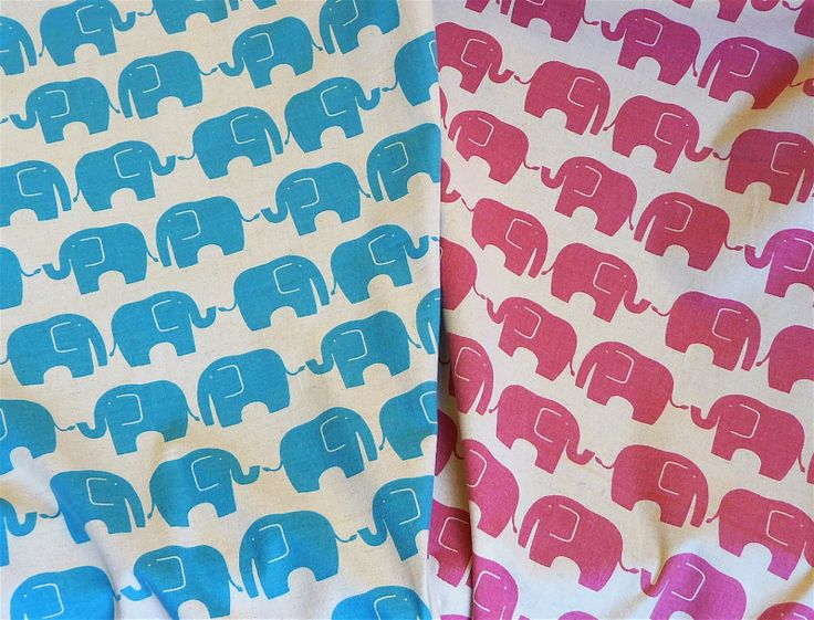 Elephants on a natural linen background.