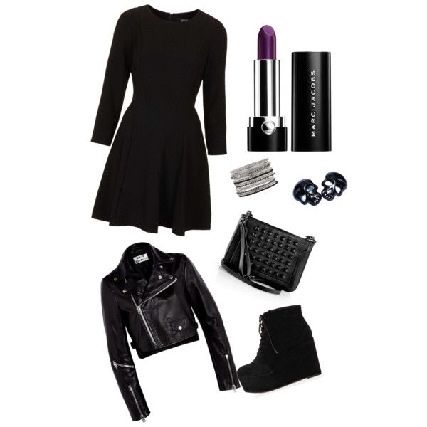 Chic goth outfit