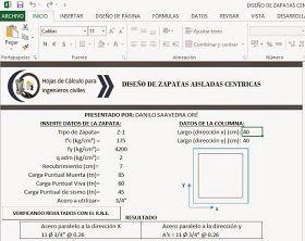 Esta hoja de calculo te permite diseñar el refuerzo de acero de ZapatasCéntricas Rectangulares y Cuadradas.