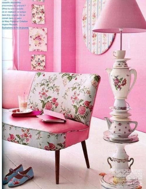 Pink in design Credit Shabby Chic