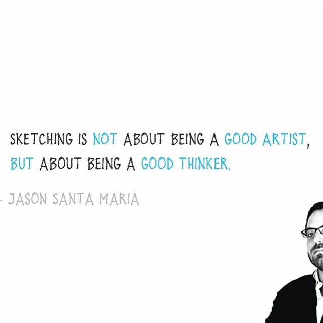 ممارستك للسكيتشنق ليس معناه ان تكون فن انا إنما كيف تكون مفكرا جيدا جايسون سانتا ماريا سكيتش نوتس Best Artist Thinker Artist