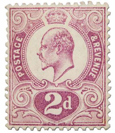 The 2d Tyrian Plum is one of the most celebrated postage stamps of Great Britain and a key stamp in any rare stamp investment portfolio. Available from Paul Fraser Collectibles for $133,000. (Payment in GBP 85,000)