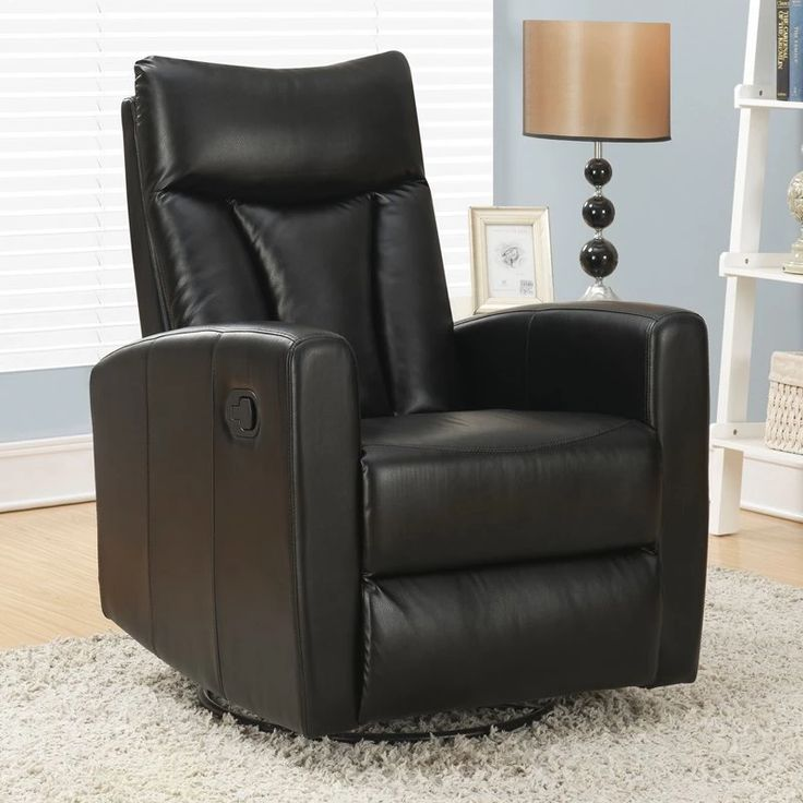 Monarch I 8087 Bonded Leather Swivel Glider Recliner | from hayneedle.com