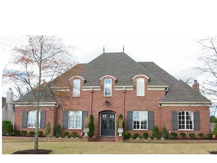 Love the symmetry and all brick exterior - plan 087S-0162
