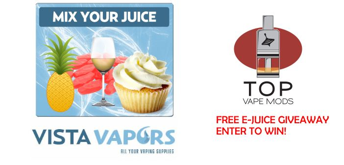 Top Vape Mods is giving away a free bottle of e-juice! Enter to win at http://www.topvapemods.com/vista-vapors-free-e-juice-giveaway/