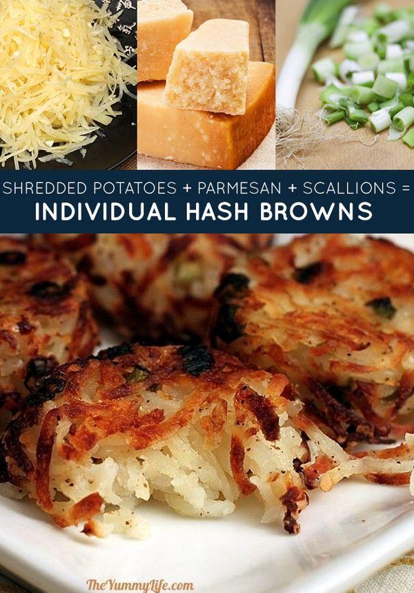 The 33 Genius Three-Ingredient Recipes: Individual Hash Browns