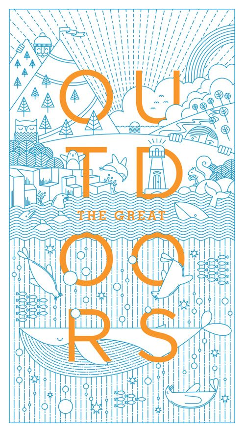 Wok's work just showed up on my pinterest feed!The Great Outdoors design and illustrator Warwick Kay