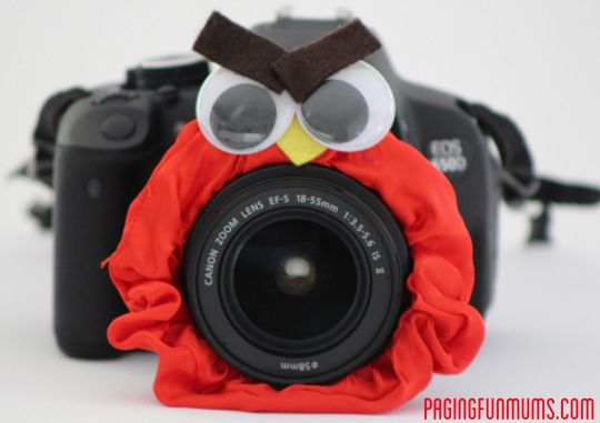 'Lens Friends'! A sure fire way to get a smile on the dial of any child! This would help Jake an anry bird on the camera he might just look