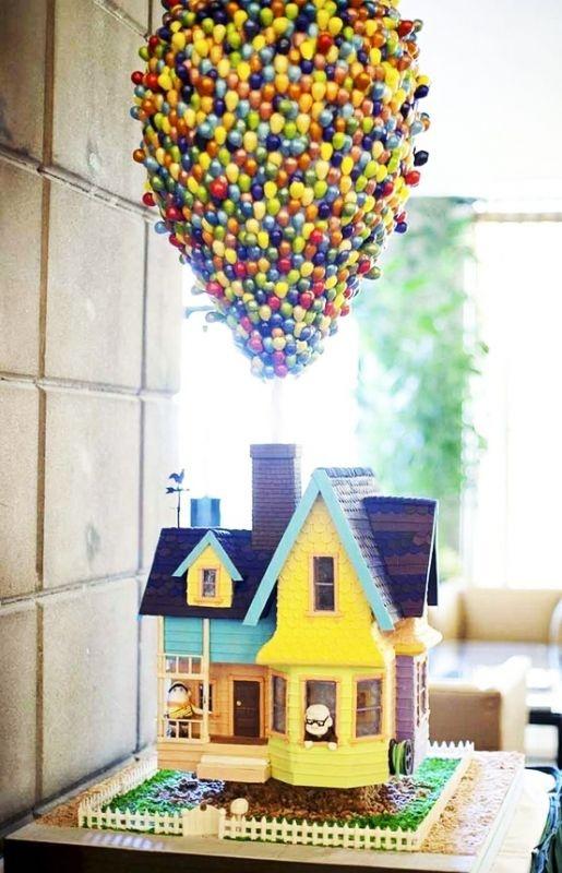 30 gâteaux d'anniversaire hallucinants - le gâteau Là Haut Disney