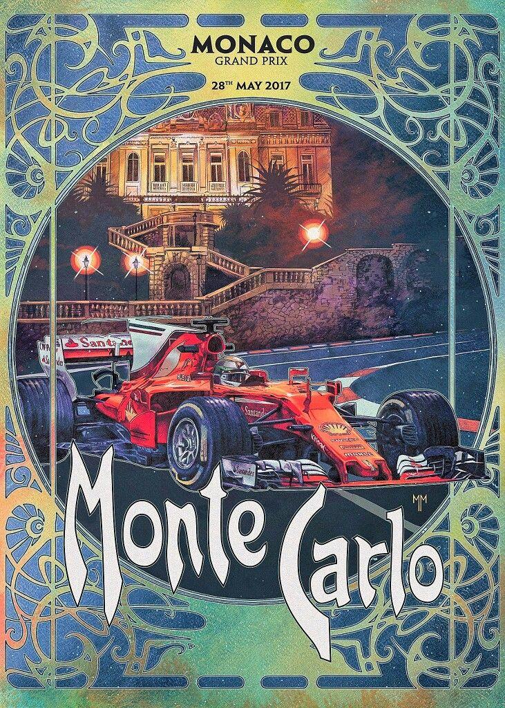 Monaco GP 2017!  Scuderia Ferrari's cover art by Marco Mastrazzo.  #ScuderiaFerrari #RedSeason