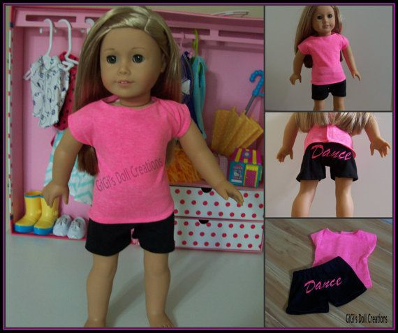 Dance practice outfit for American Girl doll by GiGisDollCreations, $12.99