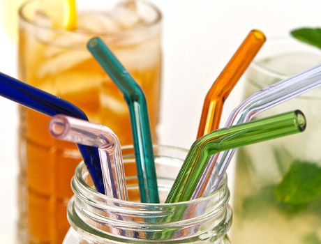 Glass straws! A great way to stop using plastic straws. Available straight and bent. Sewing up a pouch for these!
