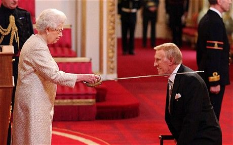 Bruce Forsyth knighted.
