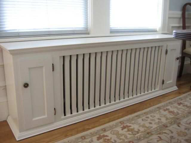 radiator bench that could corner with cabinet