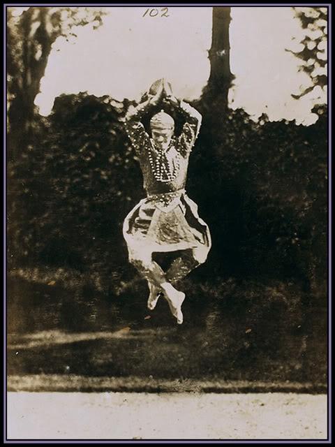 Vaslav Nijinsky in midair