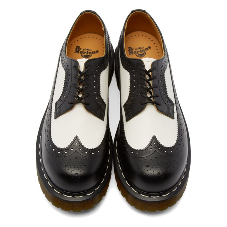 Dr. Martens - Black & White 3989 Brogues