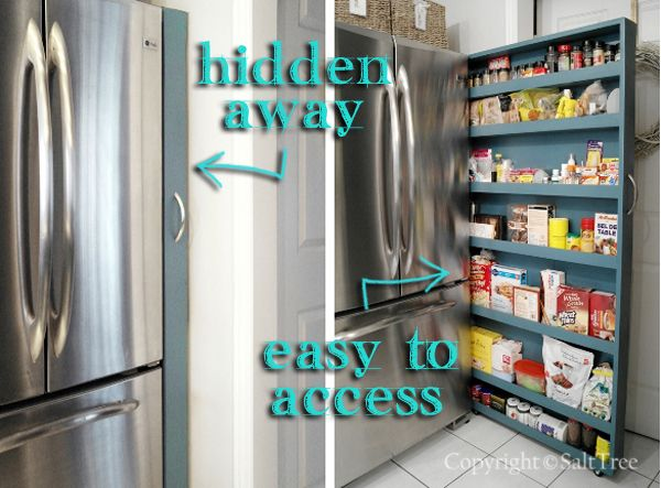 Pull Out Pantry Next To Fridge For Small Spaces By Salt