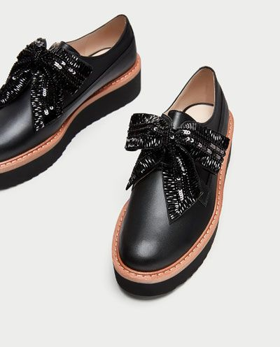 Image 5 of PLATFORM DERBY SHOES WITH BOW from Zara