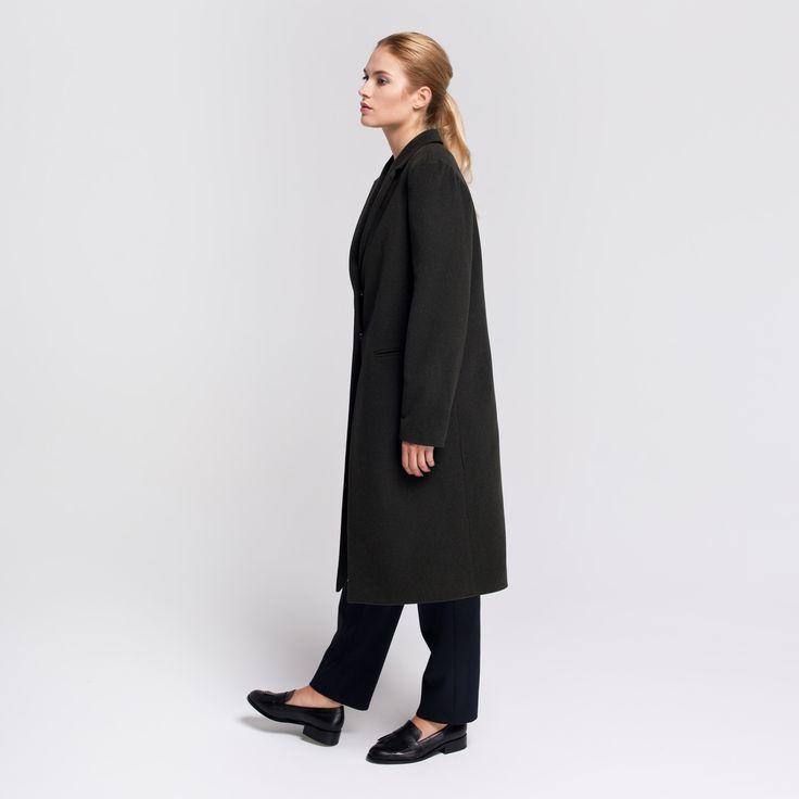 Milan Coat Dark Green #milan #coat #wool #darkgreen  #elementy #polishfashion #classic #minimal #simplicity #plaszcz #polskamoda #wełna #minimalizm #aw16