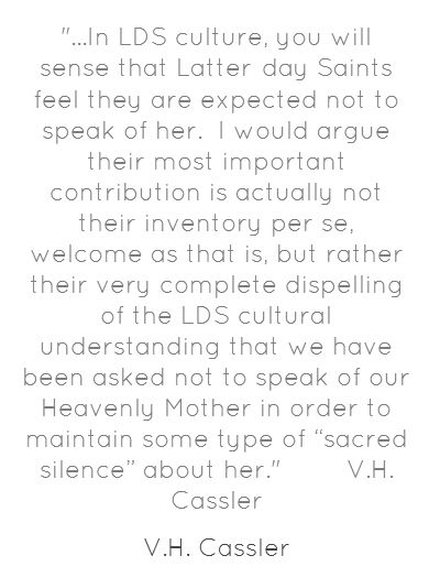 groundbreaking review of BYU Studies article documenting exhaustive quotes (over 600!) on Heavenly Mother