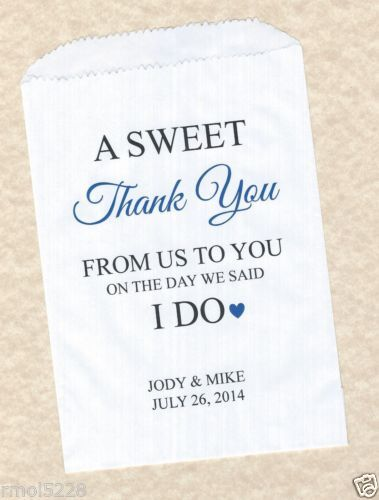 50-Sweet-Thank-You-Wedding-Personalized-Candy-Buffet-Party-Favor-Bags