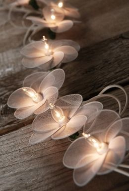 Flower String Lights White 10ft