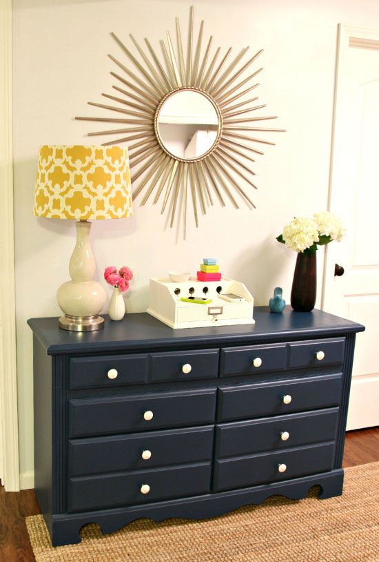 36 best carmelo dressor images on pinterest for Navy blue painted furniture