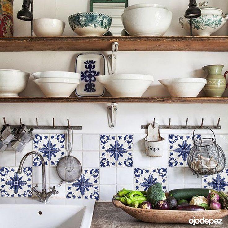 M s de 25 ideas incre bles sobre vinilos para azulejos en for Vinilos cocina azulejos
