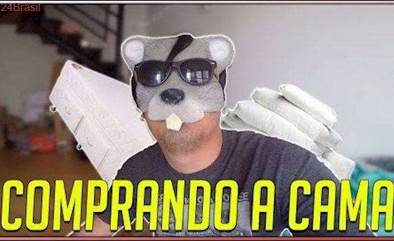 EXPLODIR A CAMA INFLÁVEL PORQUE MINHA CAMA CHEGOU!