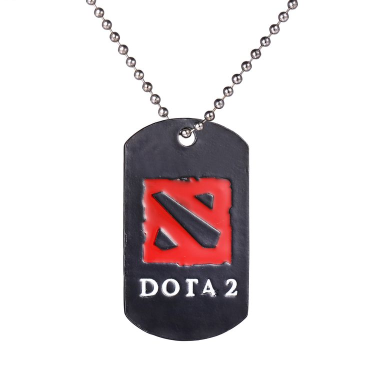 Dota 2 Logo Necklace 12 pieces / lot metal pendant figure jewelry game accessories dota2