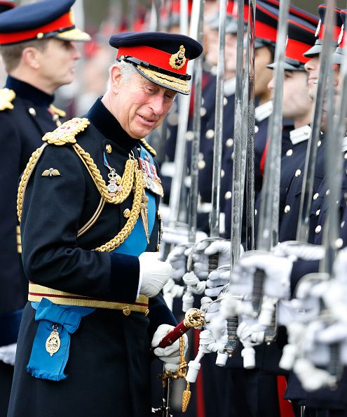 Royal Family Around the World: Prince Charles Attends The Officer Cadets Passing Out Parade at Royal Military Academy Sandhurst on December 11, 2015 in Camberley, England.