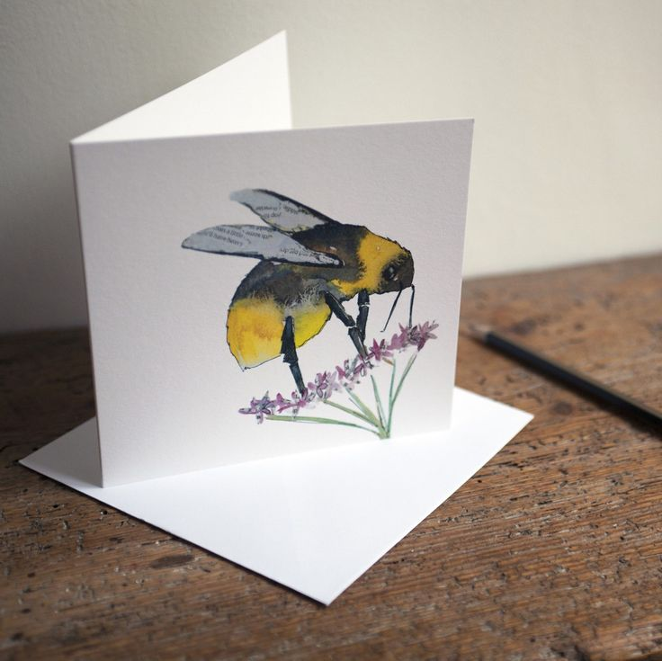 Hot off the press! My little Bee cards have arrived and gone straight up on my shop! Original watercolour by me Sarah Dowling! #watercolour #bee #illustration #cards #wildlife #gifts