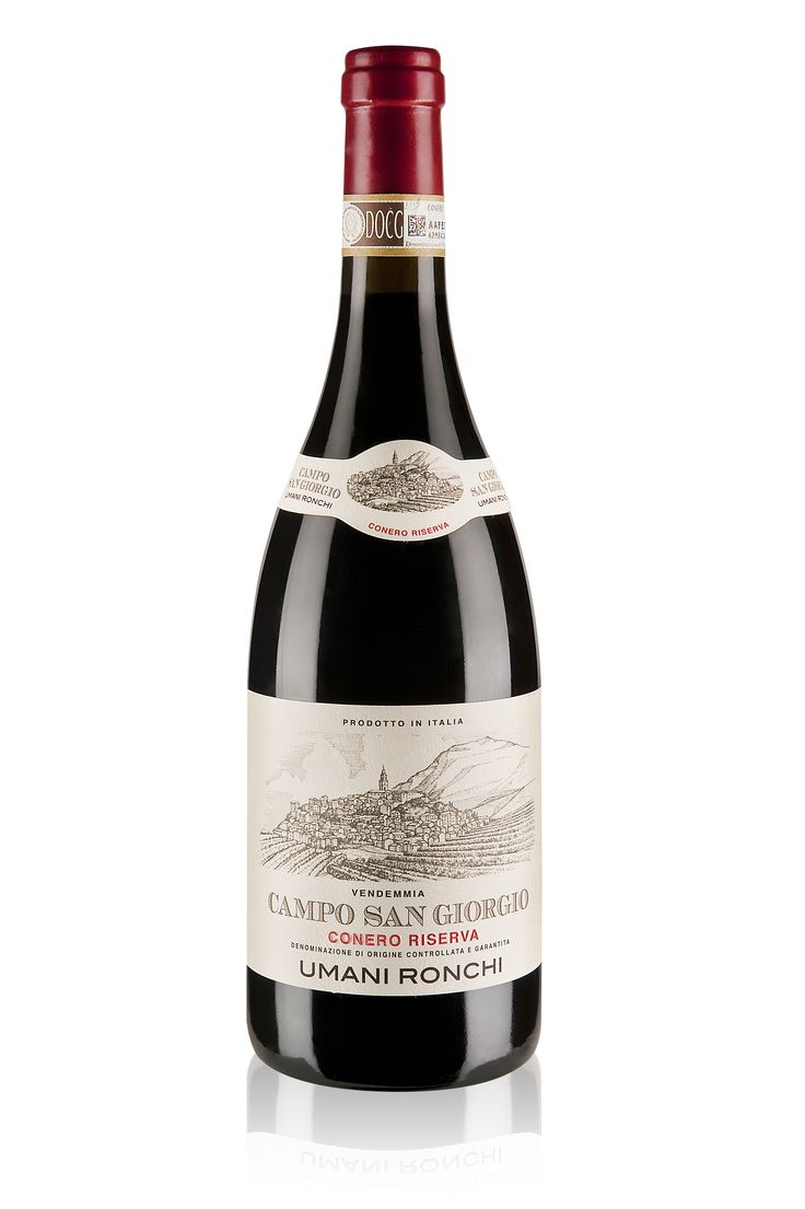 """Umani Ronchi """"From the eastern Marche where the Montepulciano grape reigns, this winery's Conero Riserva Campo San Giorgio 2011, from a vineyard block of 10 square meters, is earthy with dark fruit, a great finish and the acid to make it perfect with roasted meat."""" -Edible Manhattan"""