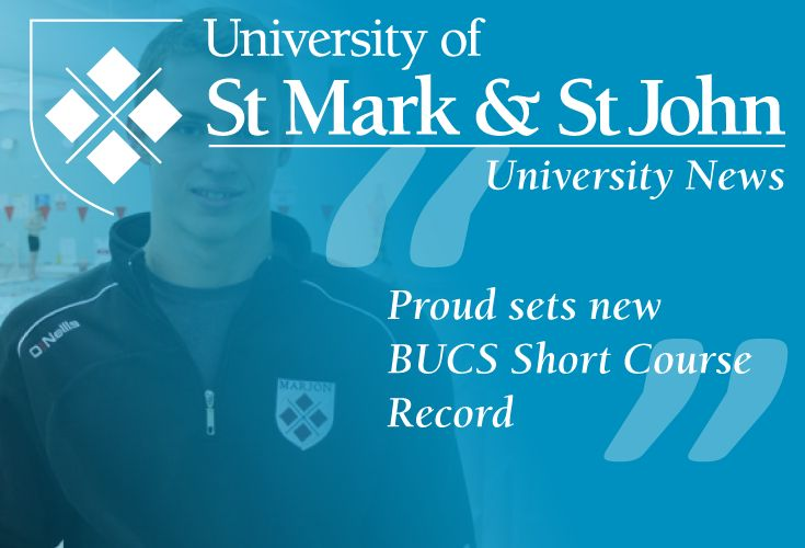 The University of St Mark & St John elite sport scholar Ben Proud set a new British Colleges & Universities Sport short course swimming record in winning the 50m freestyle final at Ponds Forge, Sheffield.  Read more at: http://marjon.ac.uk/about-marjon/news-and-events/marjon-news/proud-sets-new-bucs-short-course-record.html